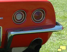 1968 Chevrolet Corvette backup light, incorporated into the tail light