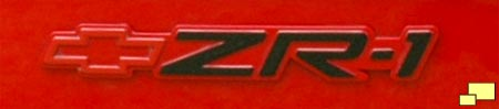 Corvette ZR-1 badge, right rear bumper