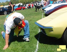 Being judged at the Redline Corvettes Car show, Sept 2011