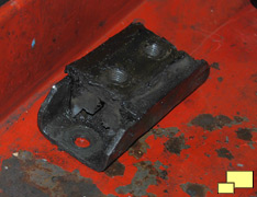 Worn 1968 Chevrolet Corvette transmission mount