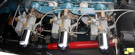 Three seperate bullet style air cleaner design used on all 1953 and some early 1954 Corvette intakes