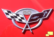 2003 Corvette 50th anniversary nose and trunk badge
