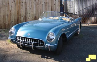 1954 Corvette in Pennant Blue