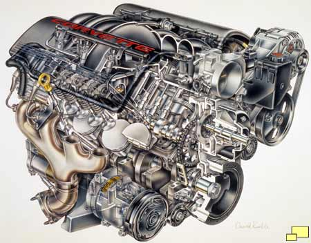 1997 Corvette LS1 engine