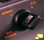 Corvette ZR-1 engine power switch