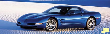 2002 Corvette in Electron Blue