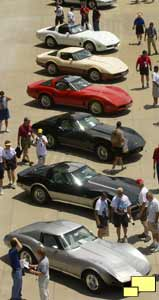 1977 to 1082 Corvettes at 50th anniversary event
