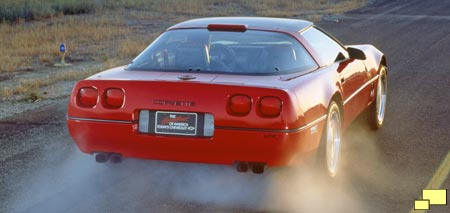 Corvette ZR-1 accelerating