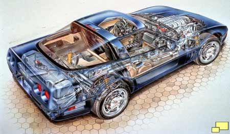 Corvette ZR-1 cutaway drawing